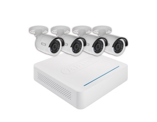 Analogue HD Monitoring Set: 8-Channel Video Recorder + 4 Outdoor Cameras