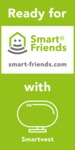 Ready for Smart Friends with Smartvest; Weitere Informationen zum Einbinden in ein Smart Home System, finden Sie auf www.smart-friends.com
