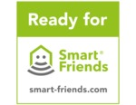Ready for Smart Friends; Weitere Informationen zum Einbinden in ein Smart Home System, finden Sie auf www.smart-friends.com