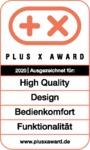 Plus X Award 2020: High Quality, Design, Bedienkomfort, Funktionalität