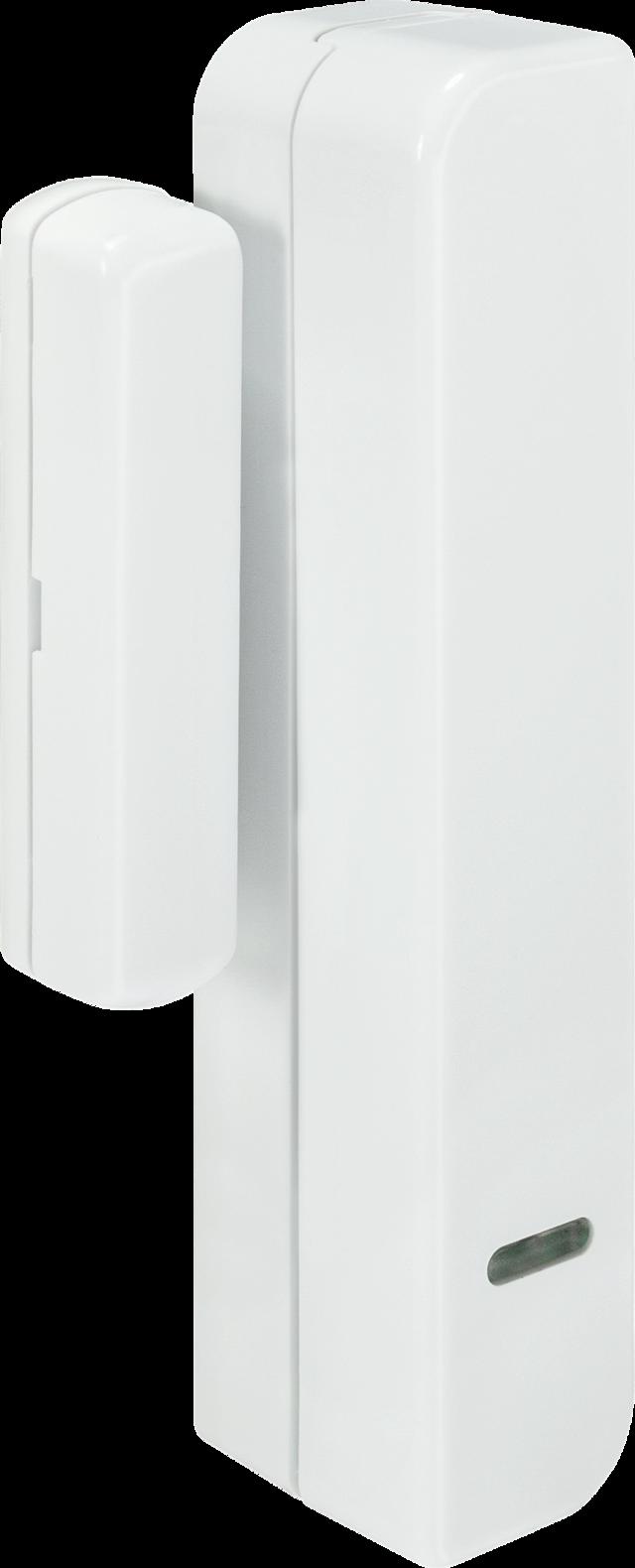 Secvest Schmaler Funk-Öffnungsmelder (weiß) Rechte Vorderansicht