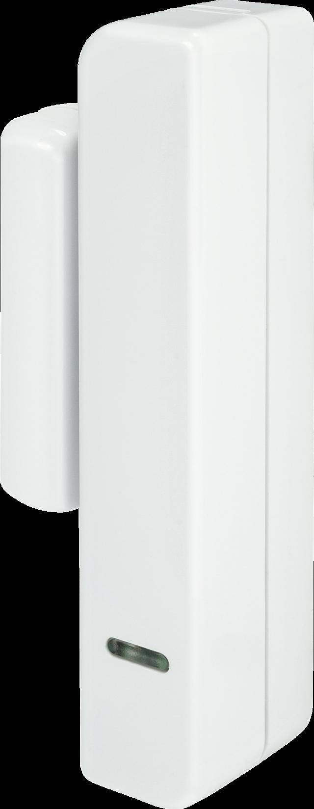 Secvest Schmaler Funk-Öffnungsmelder (weiß) Linke Vorderansicht