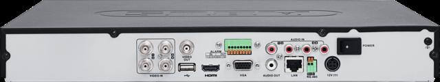 4-Kanal Analog HD Videorekorder Rückansicht