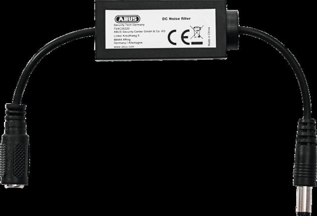 ABUS DC Entstörfilter - Verhindert Bildstörungen verursacht durch instabiles Stromnetz (TVAC25220)