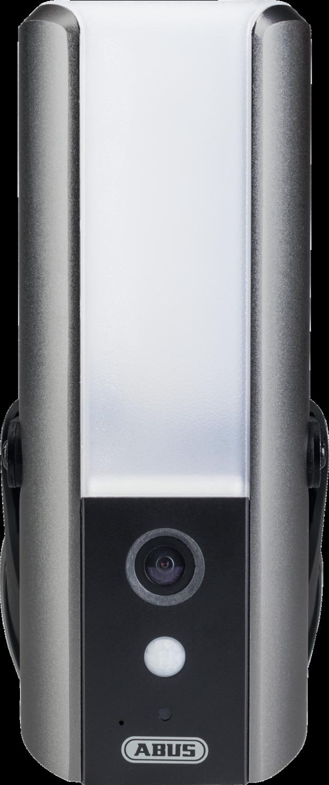 ABUS Smart Security World WLAN Lichtkamera - Kamera mit starker LED für den Eingangsbereich (PPIC36520) - Vorderansicht
