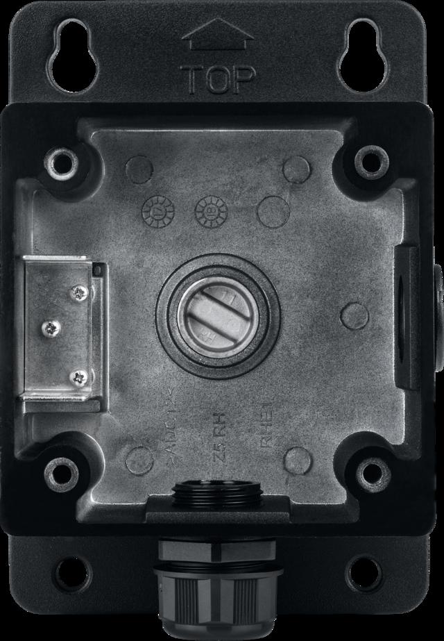 Installationsbox Schwarz