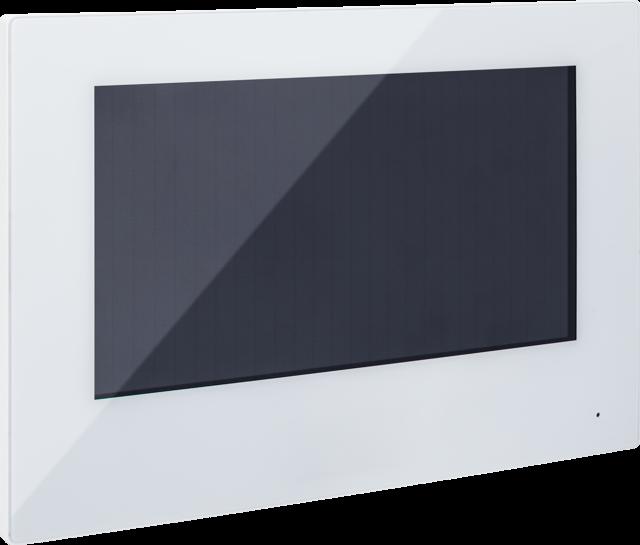 """7"""" PoE Touch Monitor weiß, LAN/WiFi für Türsprechanlage"""
