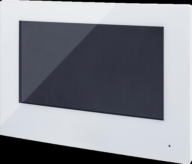 """7"""" Touch Monitor weiß, 2-Draht für Türsprechanlage"""