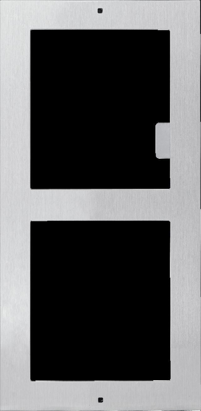 Rahmen für 2 Module für Aufputzmontage (Edelstahl)