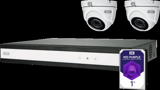 ABUS Analog HD Videoüberwachung 6-Kanal Hybrid Komplettset