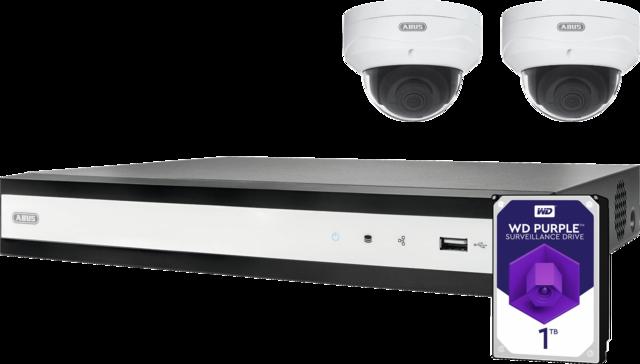 ABUS IP Videoüberwachung 4-Kanal PoE Komplettset