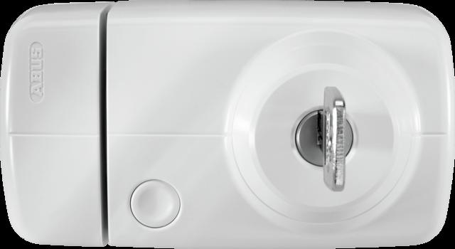 Secvest Funk-Tür-Zusatzschloss mit Innenzylinder (weiß) Vorderansicht