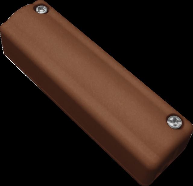 Aufputz-Schraubverteiler 5-polig braun Vorderansicht