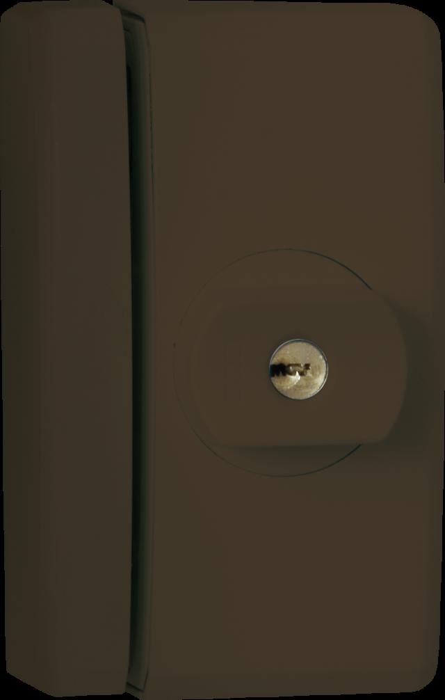 Secvest Funk-Fenstersicherung FTS 96 E (braun) Vorderansicht