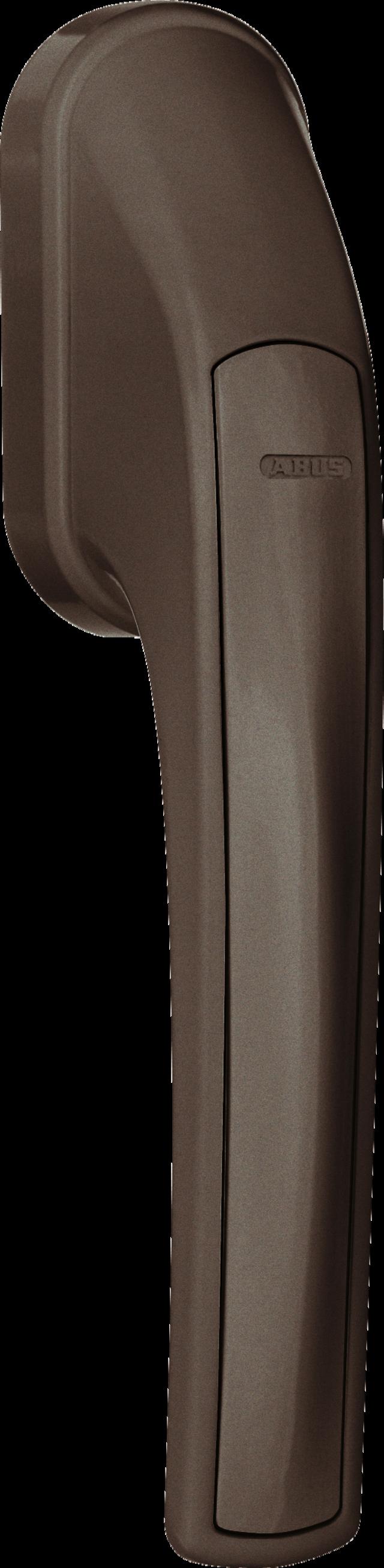 Secvest Funk-Fenstergriff FG 350 E (braun) Rechte Vorderansicht
