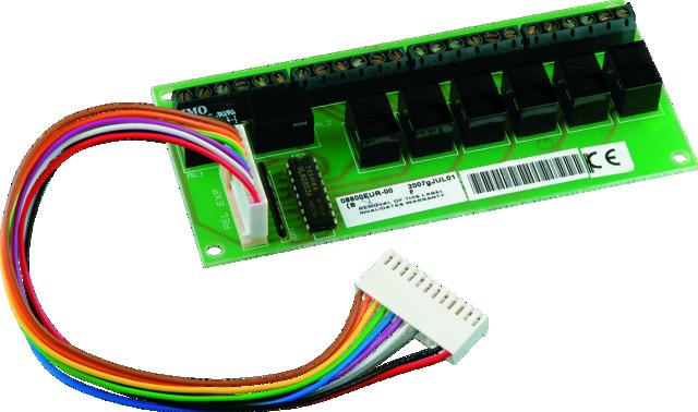 Terxon SX/MX/LX 8-fach Relaisplatine Vorderansicht