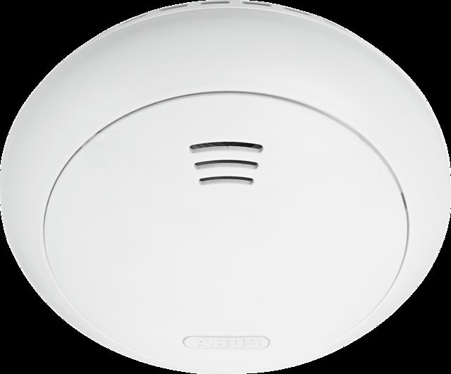 ABUS Smartvest Funk-Rauch-/Hitzewarnmelder – Detektion von Rauch und Hitze mit großer Prüftaste zur Anbindung in die Smartvest (FURM35000A)
