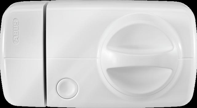 Secvest Funk-Tür-Zusatzschloss mit Drehknauf (weiß) Vorderansicht