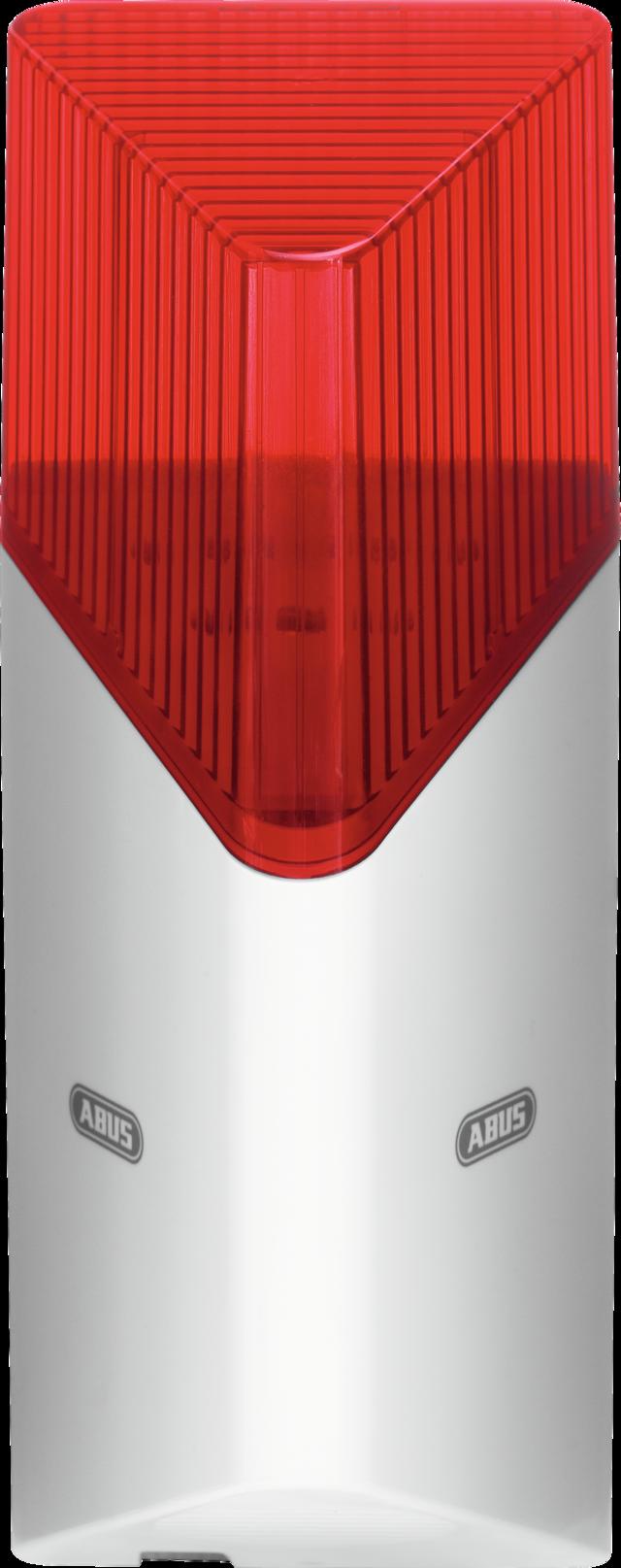 ABUS Smartvest Funk-Sirene – kabellose Sirene zur Alarmierung im Außenbereich und Innenbereich (FUSG35000A)