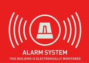 Warnaufkleber (UK) Alarm 74 x 52,5 mm