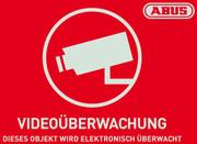 Warnaufkleber Videoüberwachung mit ABUS Logo 74 x 52,5 mm