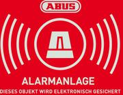 Warnaufkleber Alarm mit ABUS Logo 74 x 52,5 mm (1 Stück)
