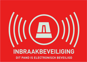 "Warnaufkleber (NL) ""Alarmanlage"" 148 x 105 mm"
