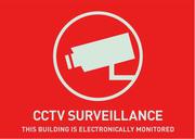 Warnaufkleber (UK) Videoüberwachung 74 x 52,5 mm