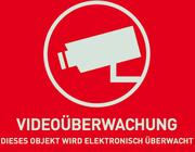 Warnaufkleber Videoüberwachung (ohne ABUS Logo) 74 x 52,5 mm
