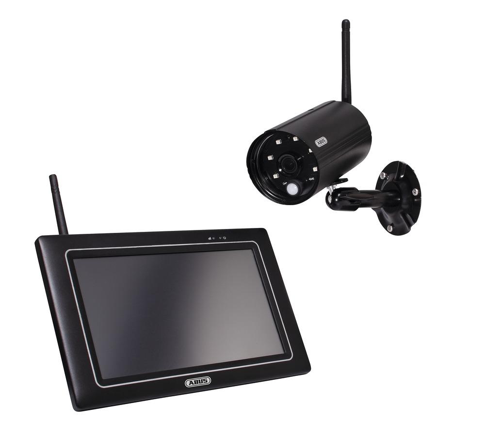 """ABUS OneLook Videoüberwachungsset - Komplettset aus Full HD 1080p Funk-Außenkamera (IP66) und 7"""" Monitor, PPDF16000"""