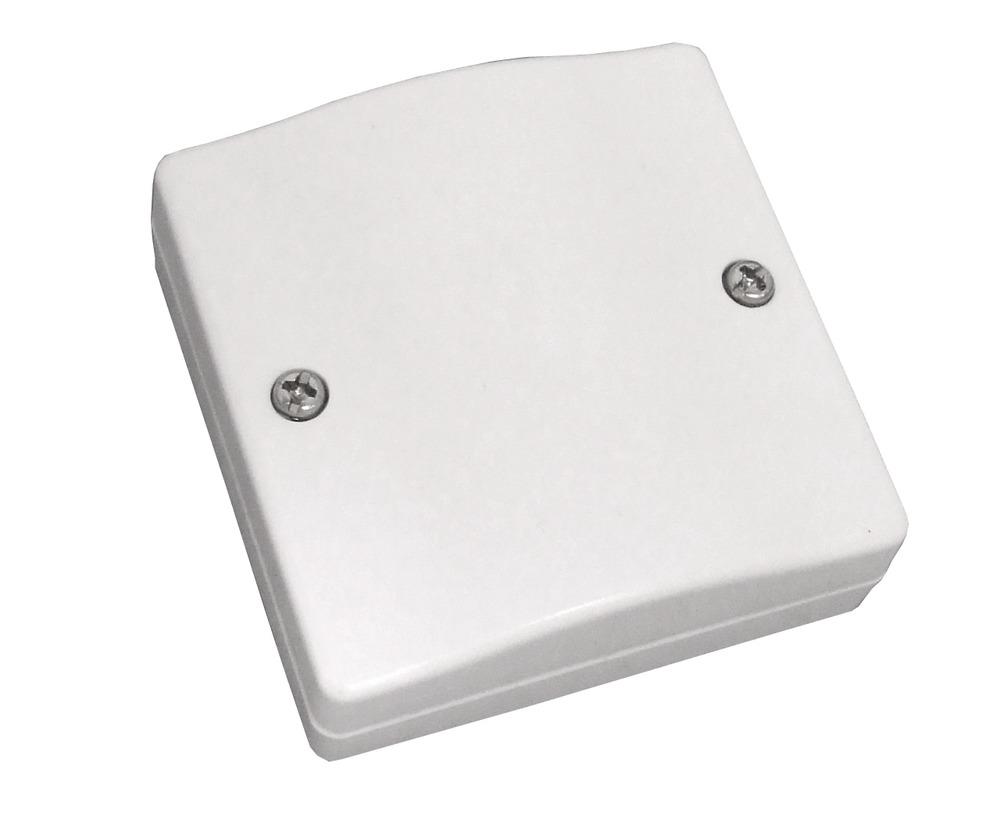 Aufputz-Schraubverteiler 8-polig weiß Vorderansicht
