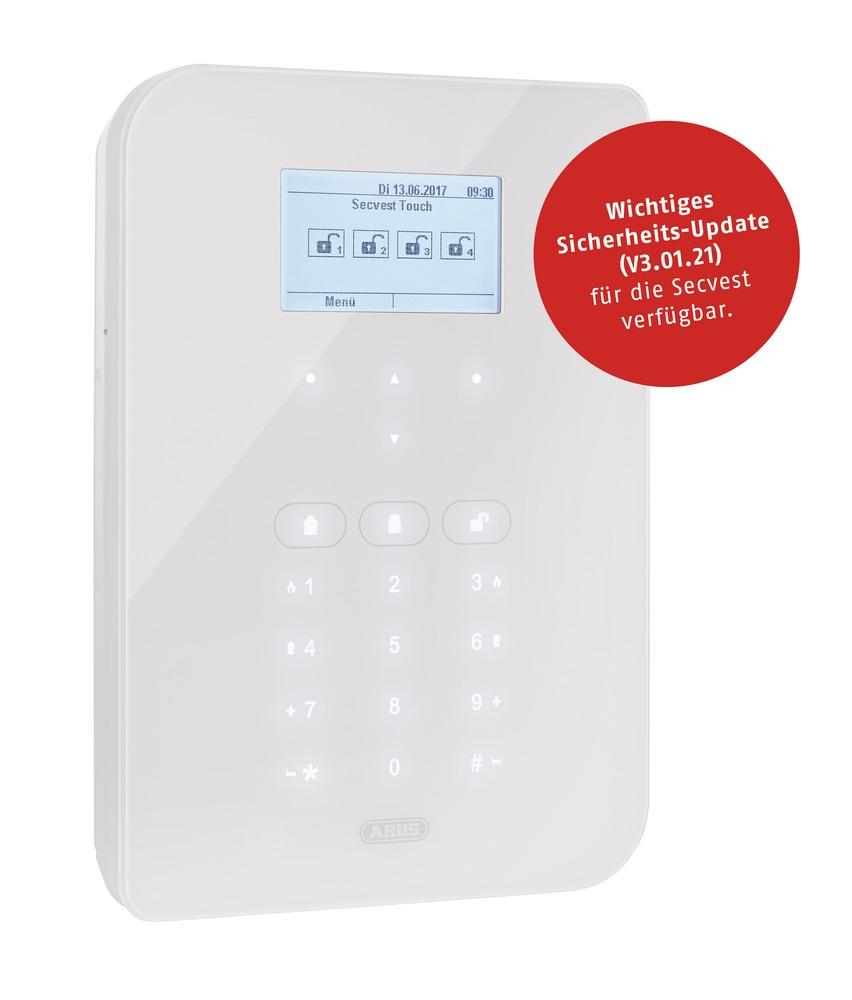ABUS Secvest Touch Funkalarmanlage - Rundum-Sicherheit mit Touch Oberfläche in elegantem Design (FUAA50500)