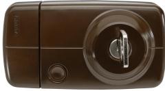 Secvest Funk-Türzusatzschloss mit Innenzylinder 7025 E braun)