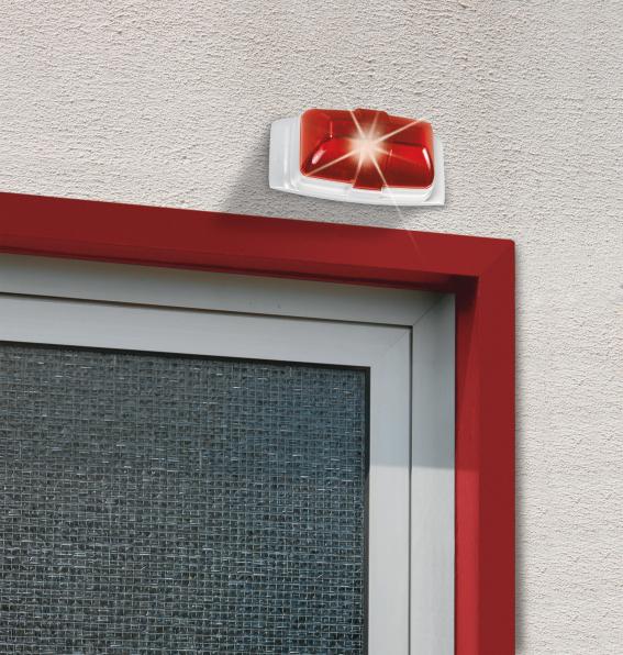 Xenon-Blitzleuchte rot Anwendungsbeispiel