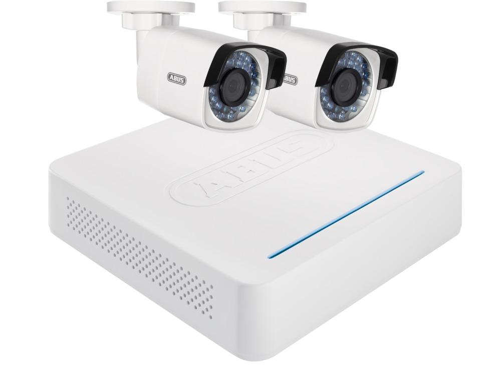 abus video berwachungsset netzwerk digitalrekorder 2 wlan au enkameras tvvr36020. Black Bedroom Furniture Sets. Home Design Ideas