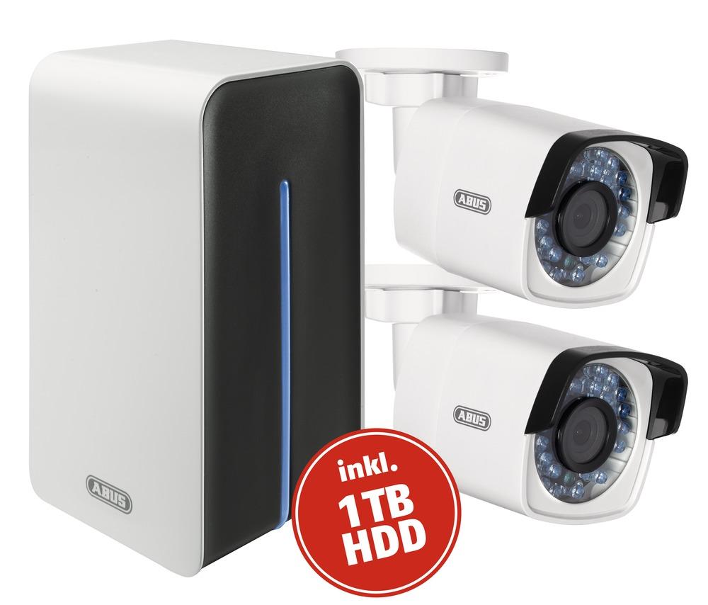 Abus Video Surveillance Set Network Wi Fi Digital