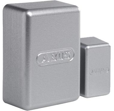 Secvest Mini-Funk-Öffnungsmelder (silbern) Rechte Vorderansicht