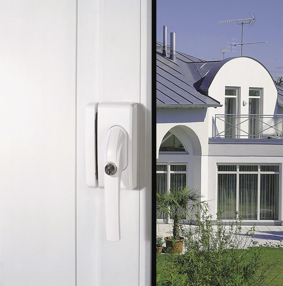 Secvest Funk-Fenstergriffsicherung FO 400 E - AL0125 (braun) Anwendungsbeispiel
