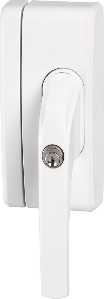 Secvest Funk-Fenstergriffsicherung FO 400 E - AL0089 (weiß) Linke Vorderansicht