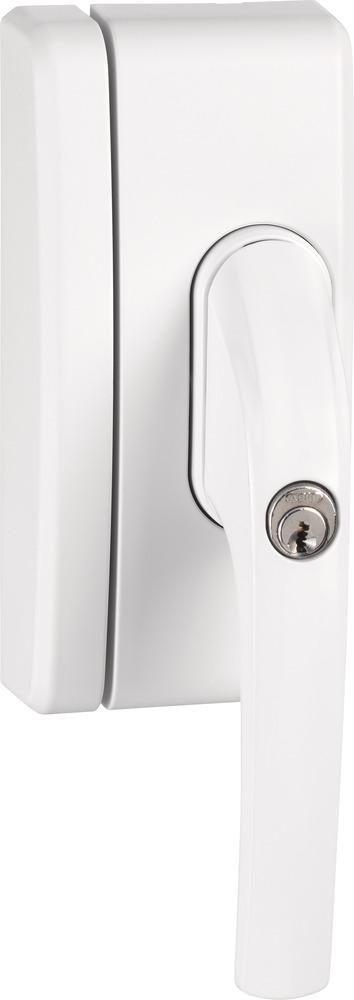 Secvest Funk-Fenstergriffsicherung FO 400 E - AL0125 (weiß) Rechte Vorderansicht