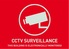 Warning sticker CCTV surveillance, (english) 148X105mm right view