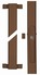 Secvest 2WAY FOS 550 E wireless window bar lock, brown front view