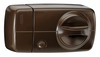 Secvest wireless additional door lock with rotary knob (brown) front view right