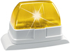 Xenon flashing light, yellow front view right