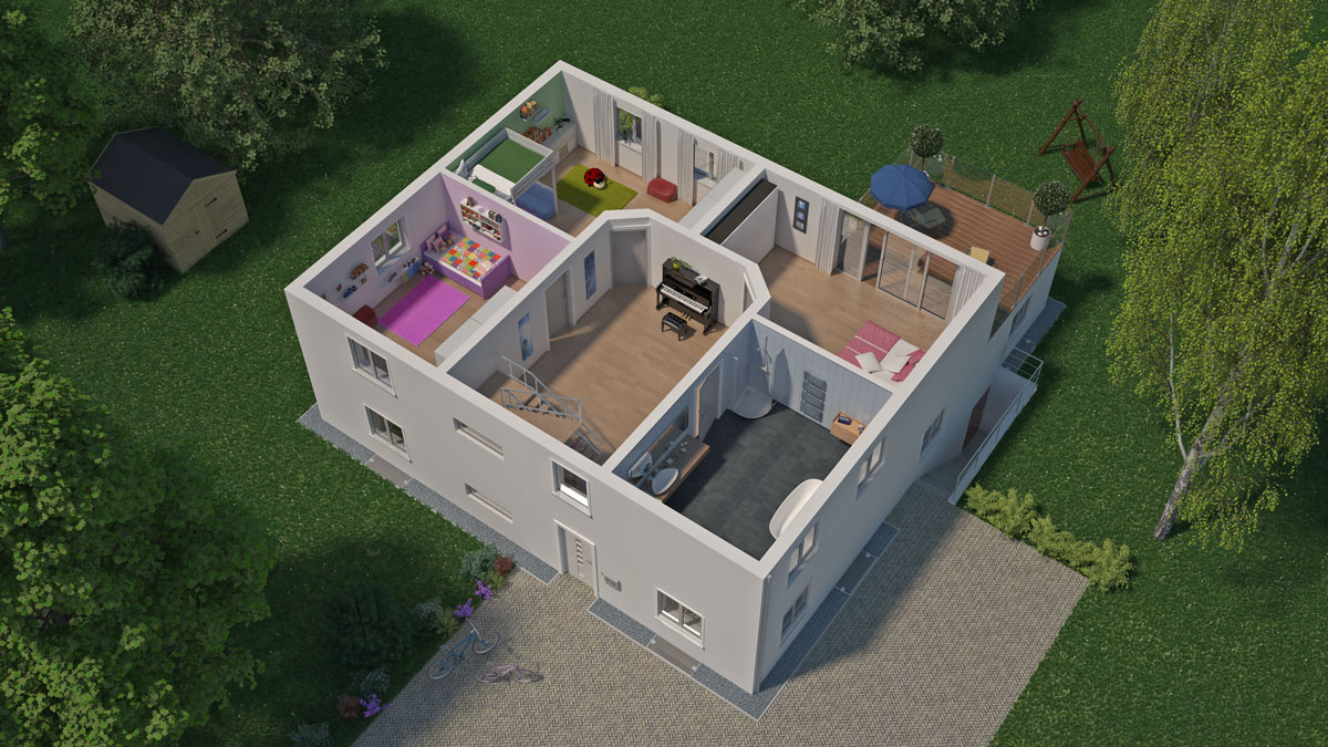abus virtuelles haus. Black Bedroom Furniture Sets. Home Design Ideas