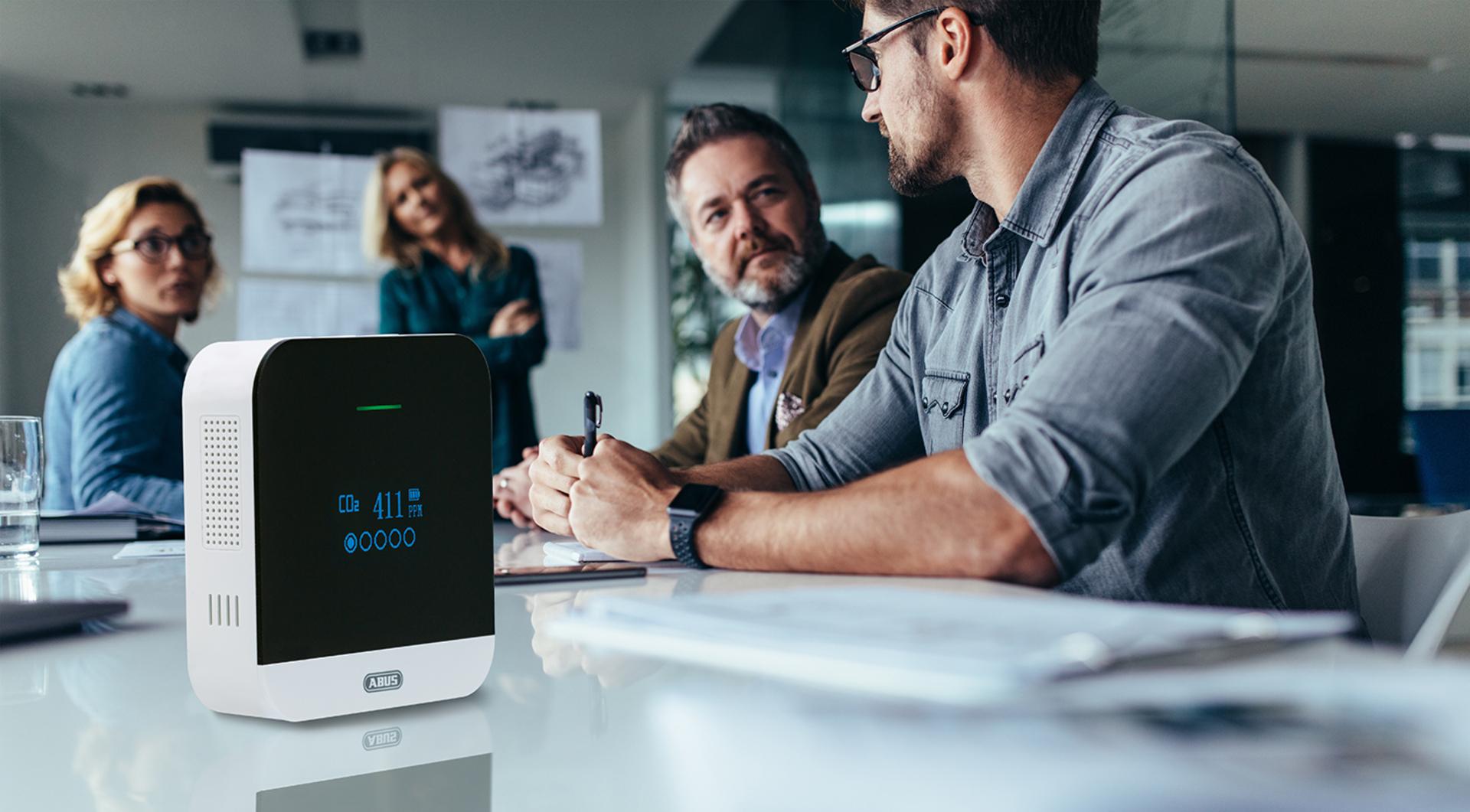 Praktisch im Büro: Mit dem AirSecure werden Sie ans Lüften erinnert