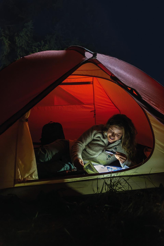 Anwendungsbeispiel - Stiftlampe TL-500 beim Zelten