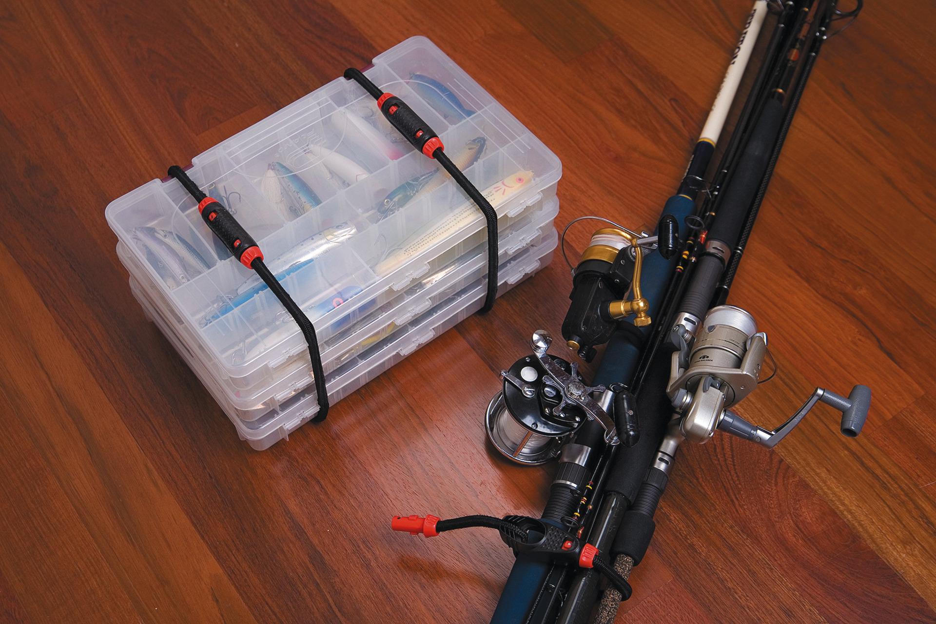 Anwendungsbeispiel – Bungee-Seil Set beim Angeln
