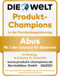 Produkt-Champion: ABUS Nr. 1 in der Kundenbegeisterung