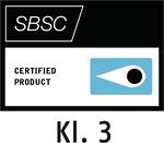 Testsiegel Svensk Brand- och Säkerhetscertifiering AB (Klasse 3) – Stockholm, Schweden (SBSC)